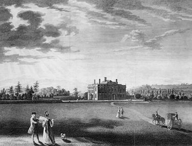 Wallsworth Hall engraving circa 1770 at the time Samuel Hayward and his family lived at the house.