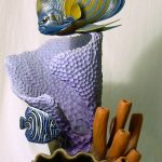 24. Angel fish. Bob Berry (USA). Carved and painted wood.
