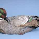 26. Falcated Teal. Philip Nelson. Single piece of carved and painted wood.