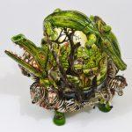 33. Crocodile teapot. Owen Maseko (Zimbabwe). Ceramic
