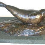 4. Common seal basking. Jean Spouse. Bronze.
