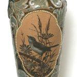 42. Lidded vase. Royal Doulton (c1880's). Ceramic