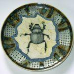 48. Scarab plate. David Burnham smith. Ceramic