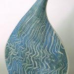 54. Waves and ripple vase. Gordon Cooke. Ceramic