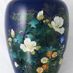 63.  Flowers vase. Ando Jubei (Japan c1900). Cloisonne