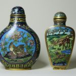 67. Pair Snuff bottles. Japanese 19th century. Clooisonne