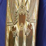 72. Bracuda and crayfish. Man II (Australian aborinal). Bark painting