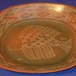 75. Fish dish. Siddig El'nigoum (Sudan). Ceramic