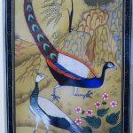 81. Peacocks. Ashnram Solanki (India). Painted marble.