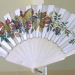 93. Autumn fruitsc silk fan. English c1880