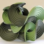 94. Curved crease sculpture. Eric and Martin Demaine (USA). Origami