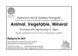 Animal, Vegetable Mineral - Celebration Evening @ Nature in Art | United Kingdom