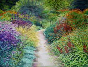 Painting a Garden Border with Perennials & Grasses - Rosalind Wise @ Nature in Art