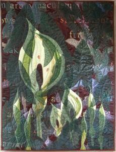 Liz Brooke Ward (British). Wild Arum. Textile.