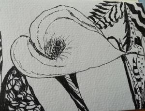 """""""Natural Form in a Zentangle World."""" by Janet."""