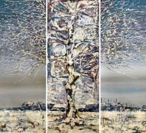 Igor Marachkin (Belarus). Anticipation of Spring (Triptych). Oil.