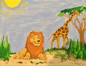 """Dreaming of Africa"" acrylics by . Amanda."