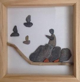 """""""Waving to the Regatta"""" pebbles by Tony"""