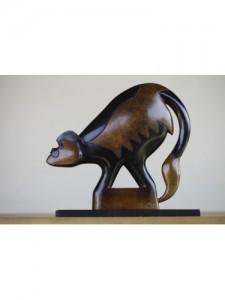 Jon Buck (British). Colobus Monkey. Bronze