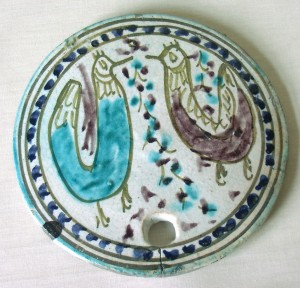 Persian (c1825). Beehive cover. Ceramic