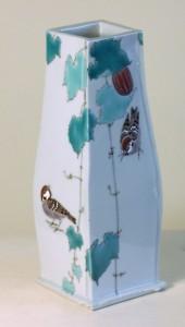 Jun Takegoshi (Japan). House Sparrows vase. Ceramic