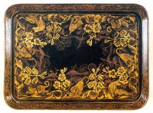Laquerwork Papier Mache Tray (British). c1810.