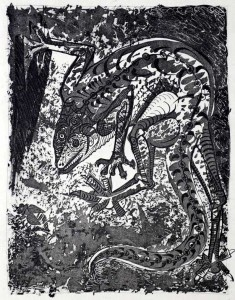 Pablo-Picasso (1881-1973) (Spain). Le Lezard. Etching and Aquatint.